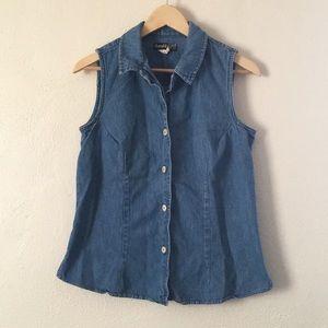 Harold's vintage denim button down shirt